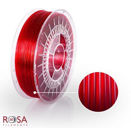 PETG Standard Red Transparent ROSA3D