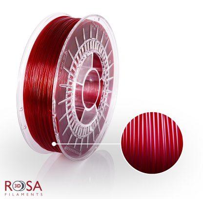 PETG Standard Red Wine Transparent ROSA3D